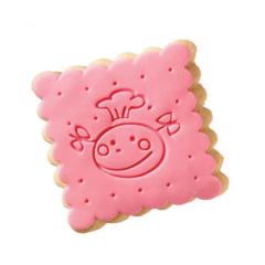 Μπισκότο ζαχαρόπαστας σε σχήμα funny face τετράγωνο