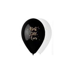 Τυπωμένο 'Best Day Ever' Λάτεξ Μπαλόνι (5τεμ)