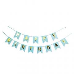 Γιρλάντα γαλάζια Happy Birthay 2μ