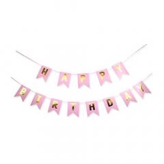 Γιρλάντα ροζ Happy Birthay 2μ