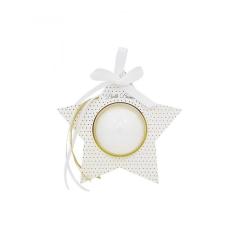 Bath Bomb λευκό χρυσό αστέρι