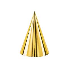 Χάρτινο καπελάκι χρυσαφί 6τεμ
