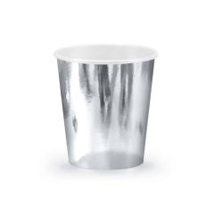 Χάρτινο ποτήρι ασημί μεταλλιζέ 180ml