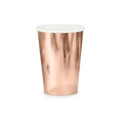Χάρτινα ποτήρια ροζ χρυσό μεταλλιζέ