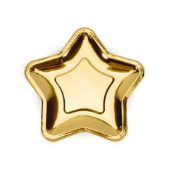 Χάρτινο πιάτο φαγητού χρυσαφί αστέρι 23εκ