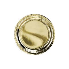 Χάρτινο πιάτο φαγητού χρυσό μεταλλιζέ 23εκ
