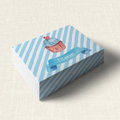 Κουτάκι Βάπτισης MyMastoras Blue Cupcake
