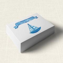 Κουτάκι Βάπτισης MyMastoras Ribbon Boat