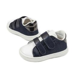 Δίχρωμο sneaker με διπλή μπαρέτα χρατς Babywalker