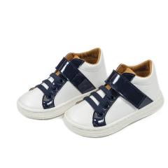 Τρίχρωμα sneaker ελαστικό κλείσιμο & μπαρέτα Babywalker