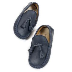 Δερμάτινο loafer με φουντάκια Babywalker