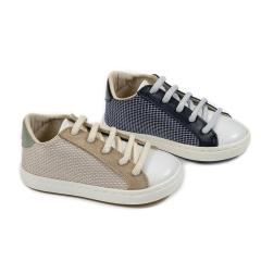 Δετά sneakers απο ύφασμα & δέρμα Babywalker