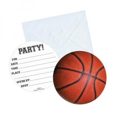 Χάρτινα προσκλητήρια πάρτι σε σχήμα μπάλας μπάσκετ