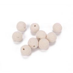 Χάντρες λάβα εκρού 16mm 10τεμ