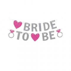 Χάρτινη γιρλάντα γκλίτερ Bride To Be