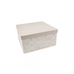 Χάρτινο κουτί με σχέδιο δαντέλα 25x25x14εκ