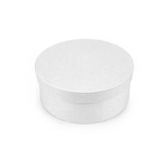 Χάρτινο κουτί στρογγυλό λευκό 20εκ