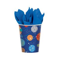 Ποτήρια χάρτινα Διαστημικό Ταξίδι 266ml 8τεμ