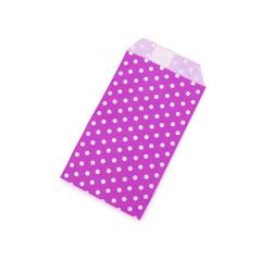 Χάρτινος φάκελος ροζ πουά 8x15εκ 10τεμ