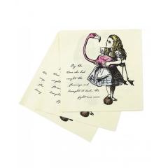 Χαρτοπετσέτες Αλίκη στη χώρα των θαυμάτων 33x33εκ