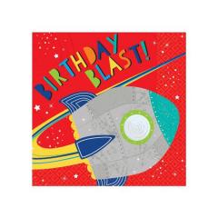 Χαρτοπετσέτες φαγητού Μικρός Αστροναύτης 33εκ 16τεμ