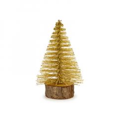 Χριστουγεννιάτικο δεντράκι χρυσό 8εκ