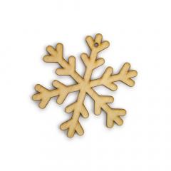 Ξύλινη lasercut χιονονιφάδα 9x9εκ 2τεμ