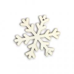Ξύλινη lasercut χιονονιφάδα λευκή 9x9εκ 2τεμ