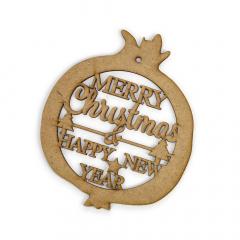 Ξύλινο χριστουγεννιάτικο ρόδι Merry Christmas 18εκ