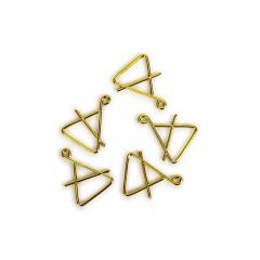 Χριστουγεννιάτικο τρίγωνο χρυσό 35x28mm 5τεμ