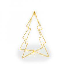Μεταλλικό χριστουγεννιάτικο δέντρο με LED 26x20εκ