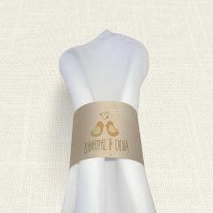 Δαχτυλίδι πετσέτας γάμου Calendar Birds MyMastoras