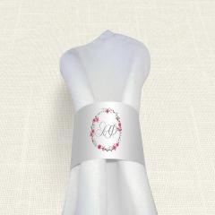 Δαχτυλίδι πετσέτας γάμου Circles Flowers MyMastoras