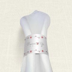 Δαχτυλίδι πετσέτας γάμου Dots Flowers MyMastoras