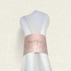 Δαχτυλίδι πετσέτας γάμου Lace MyMastoras