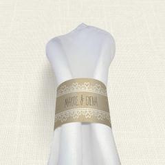 Δαχτυλίδι πετσέτας γάμου Lace Brown MyMastoras