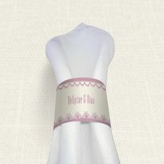 Δαχτυλίδι πετσέτας γάμου Lace edge MyMastoras