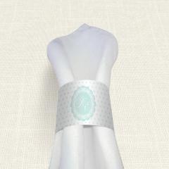 Δαχτυλίδι πετσέτας γάμου Ment Polk MyMastoras
