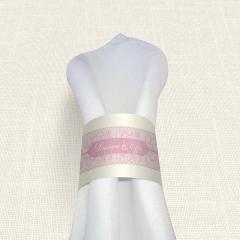Δαχτυλίδι πετσέτας γάμου  Old Pink MyMastoras