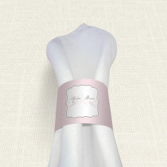 Δαχτυλίδι πετσέτας γάμου Polka Dots Letter MyMastoras