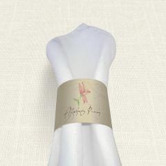 Δαχτυλίδι πετσέτας γάμου Postcard Lily MyMastoras