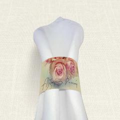 Δαχτυλίδι πετσέτας γάμου Roses MyMastoras
