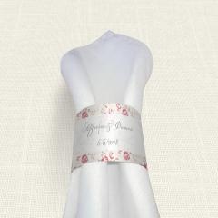 Δαχτυλίδι πετσέτας γάμου Roses Border MyMastoras