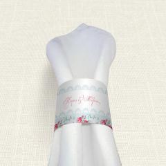 Δαχτυλίδι πετσέτας γάμου  Roses Patern MyMastoras