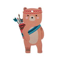 Αρκούδος ξύλινο διακοσμητικό 22cm