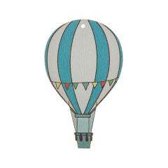Αερόστατο ξύλινο διακοσμητικό 22cm