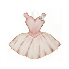 Φόρεμα μπαλαρίνας ξύλινο διακοσμητικό 27x23cm