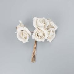 Λουλουδάκι διακοσμητικό λευκό 6τεμ