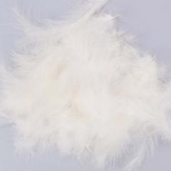 Πούπουλο διακοσμητικό λευκό 13εκ 50τεμ