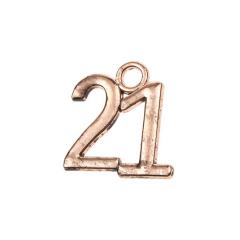 Μεταλλική ημερομηνία 21 χάλκινο 2x2εκ 50τεμ